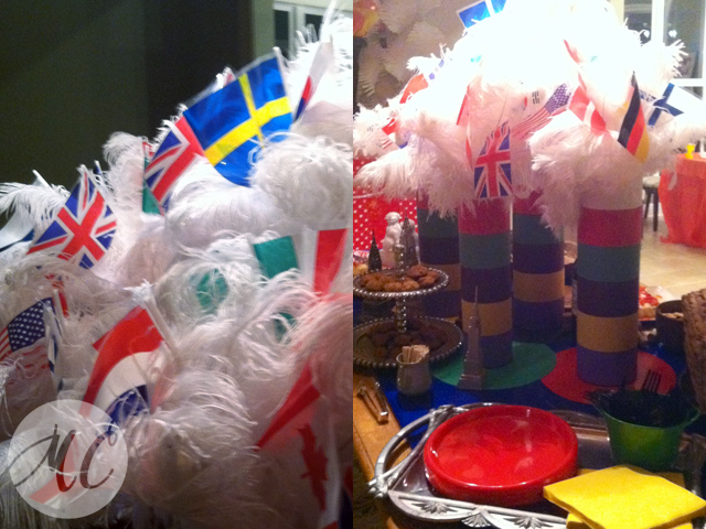 Winter Olympic Party Table
